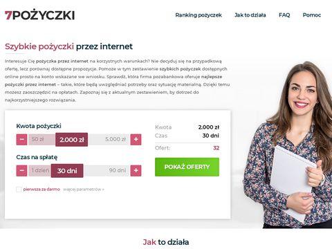 7pozyczki.pl na dowód