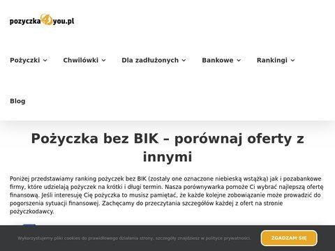 Pozyczka4you.pl - gotówka bez BIK