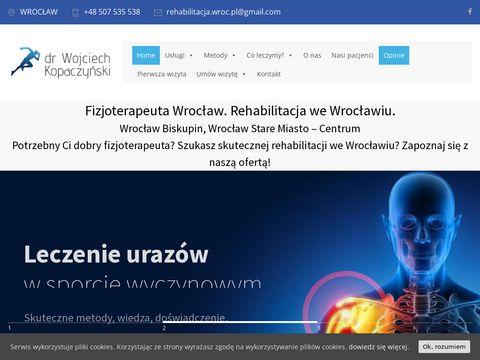 Rehabilitacja.wroc.pl fizjoterapeuta