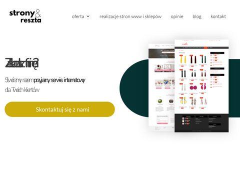 Stronyireszta.pl na Wordpress