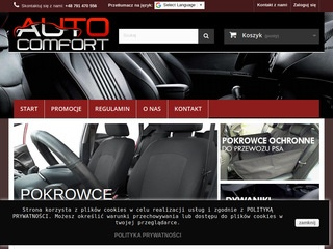 Autocomfort - pokrowce samochodowe