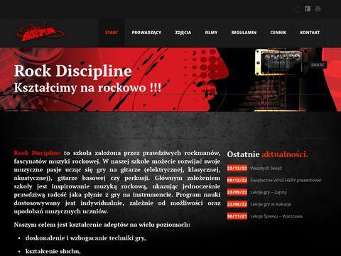 Rockdiscipline.com nauka gry na gitarze