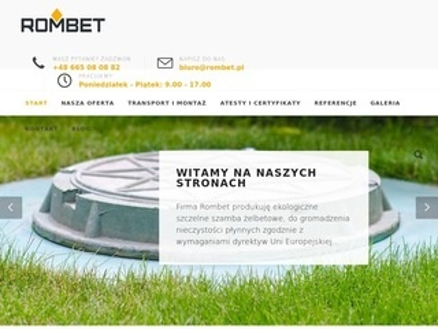 Rombet.pl - szambo betonowe 3m3