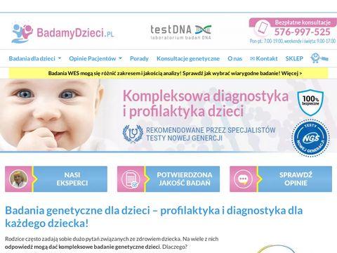 Testnova.pl badania dla dzieci
