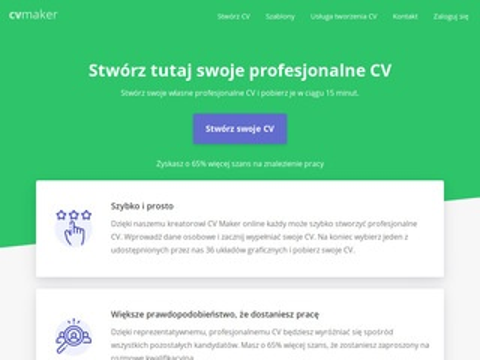 Cv-maker.pl - online generator