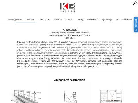 Kb-inwestycje.pl aluminiowe drabiny