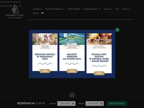 Naturalhotel.pl z plażą nad jeziorem