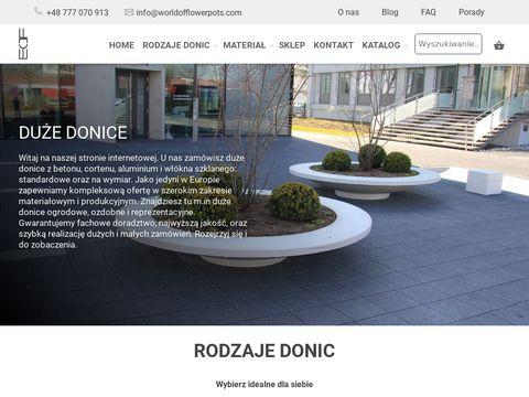 Worldofflowerpots.pl donice betonowe