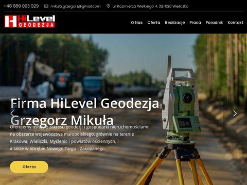 Hilevelgeodezja.pl usługi geodezyjne
