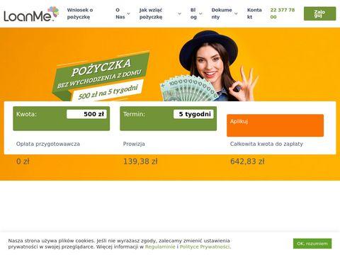 Loanme.pl - szybka pożyczka online