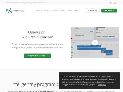 Mantreo.com program dla biur tłumaczeń
