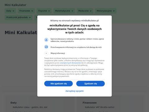 Minikalkulator.pl - szyfr cezara