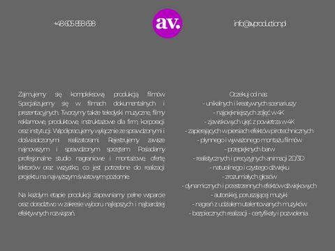 Avproduction.pl - produkcja filmów