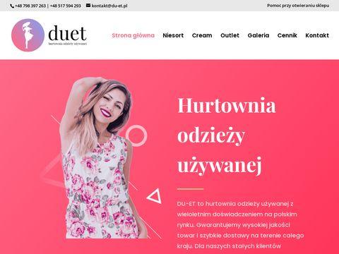 Du-et.pl - hurtownia outlet Olsztyn