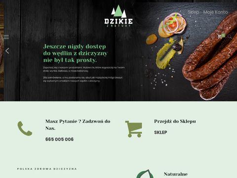 Dzikieznatury.pl - kabanosy z dzika