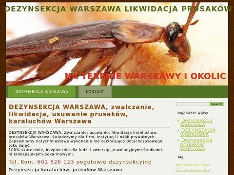 Dezynsekcja Warszawa