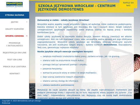 Demostenes.com.pl szkoła językowa