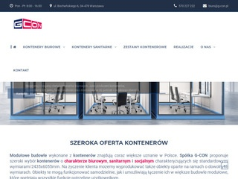 G-con.pl kontenery biurowe