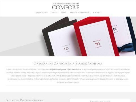 Zaproszenia ślubne - comfore.pl