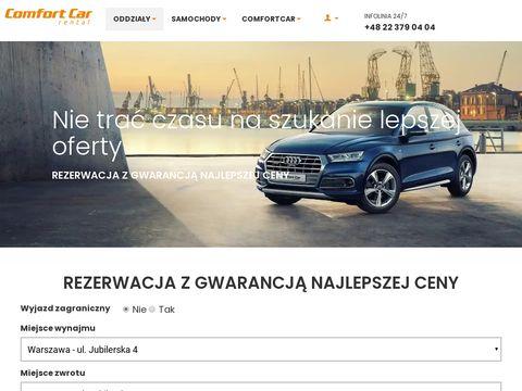 Wynajem samochodów comfortcar.pl
