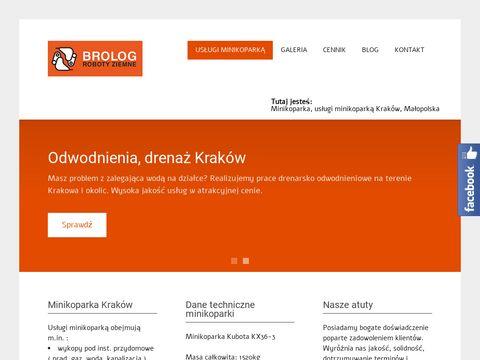 Brolog - usługi minikoparką Kraków