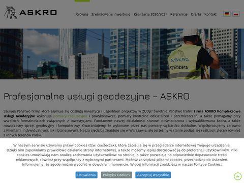 Askro.pl geodezja Warszawa