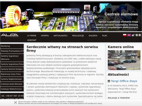 Alfa Alarmy - montaż kamer