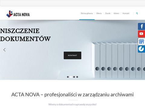 Acta Nova archiwizacja dokumentów