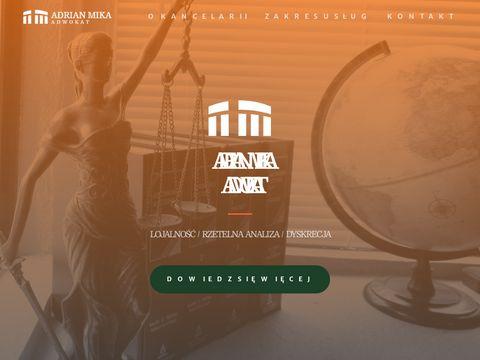 Adwokat Adrian Mika