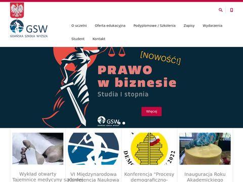 GSW studia podyplomowe Gdańsk