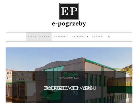 E-pogrzeby.pl zakład pogrzebowy blog