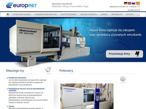 Wtryskarki używane - Europnet.pl