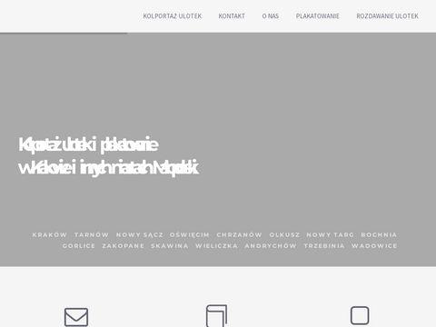 Kolportaż ulotek Kraków