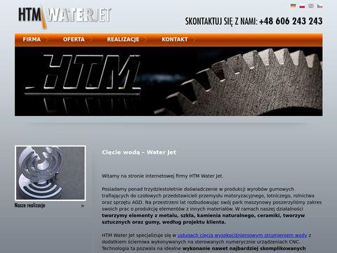 Htm-waterjet.pl cięcie wodą