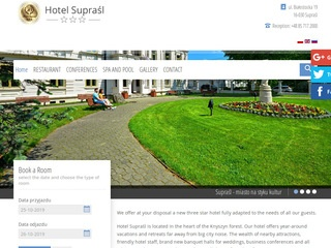 Supraśl hotel restauracja