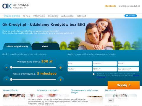 Ok-Kredyt szybka pożyczka bez bik