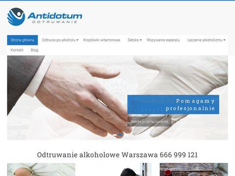 Antidotum Odtruwanie - Warszawa