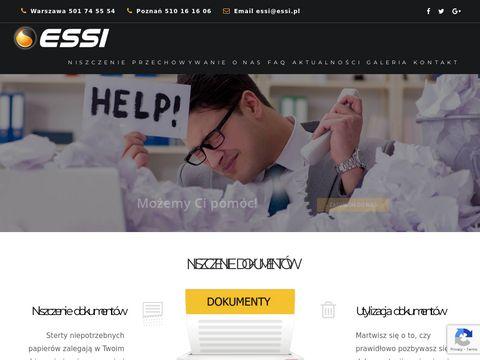 ESSI - niszczenie dokumentów