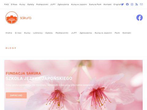 Fundacja Sakura język japoński