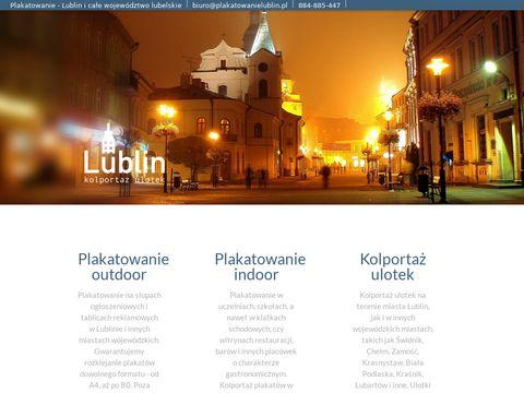 Plakatowanie i kolportaż Lublin