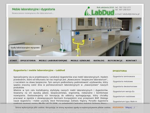 Dygestoria i meble laboratoryjne