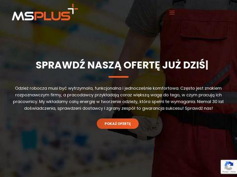 MS Plus fartuchy robocze Poznań