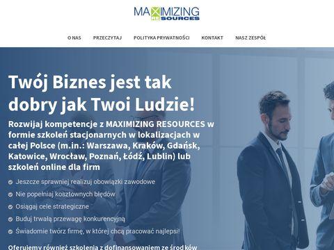 Maxres.pl kursy excel Warszawa