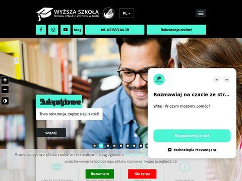 Wsbinoz dietetyka studia Łódź