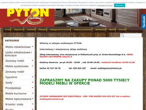 Internetowy sklep meblowy Pyton
