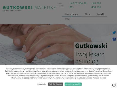Gutkowski Mateusz leczenie padaczki