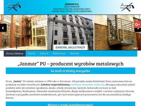 Janmar poręcze stalowe Warszawa