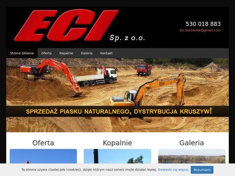 ECI sprzedaż piasku małopolskie