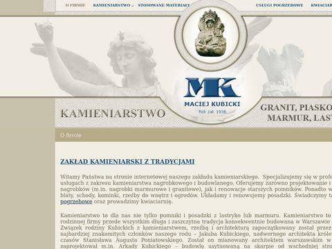 Maciej Kubicki nagrobki Warszawa