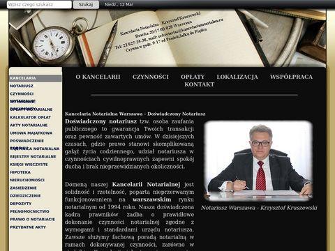 Notariusz Krzysztof Kruszewski